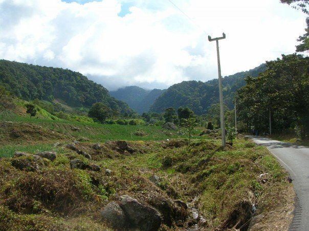 Road on the outskirts of Boquete leading to Volcan Baru national park. Panama