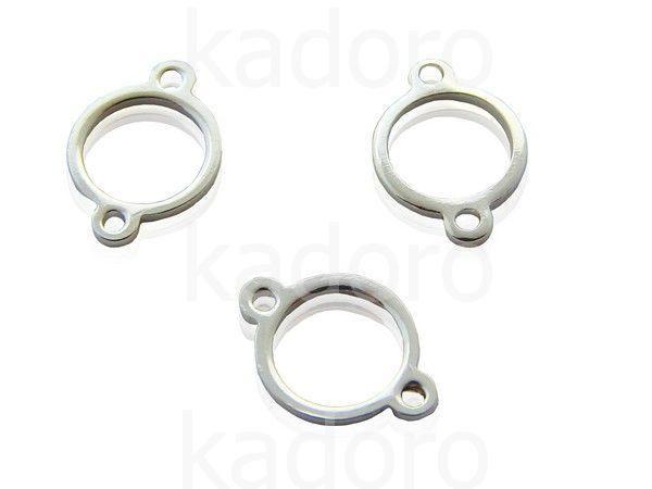 Łącznik posrebrzany okrągły 11x7 mm - 2 sztuki  Półfabrykaty posrebrzane  »  Łączniki