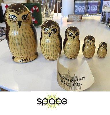 Screech Owl w Baby Vintage Richard Hinger Print on 15 x 21 Wood