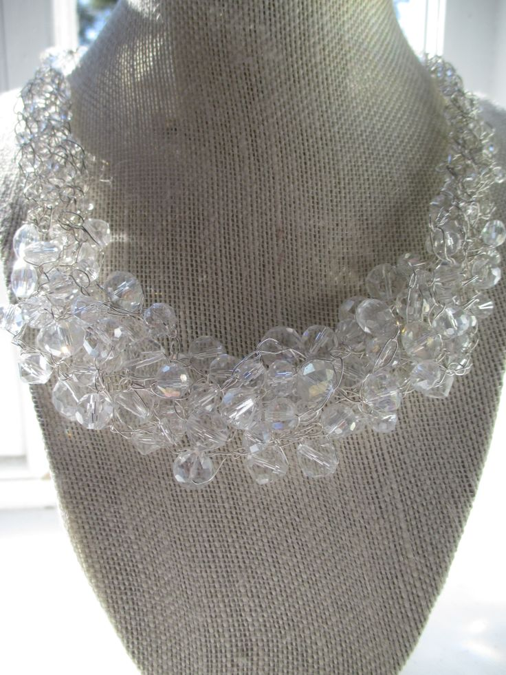 Different size crystals 18'' long with 3'' extension. www. ColetteLouiseDesigns.com Facebook too