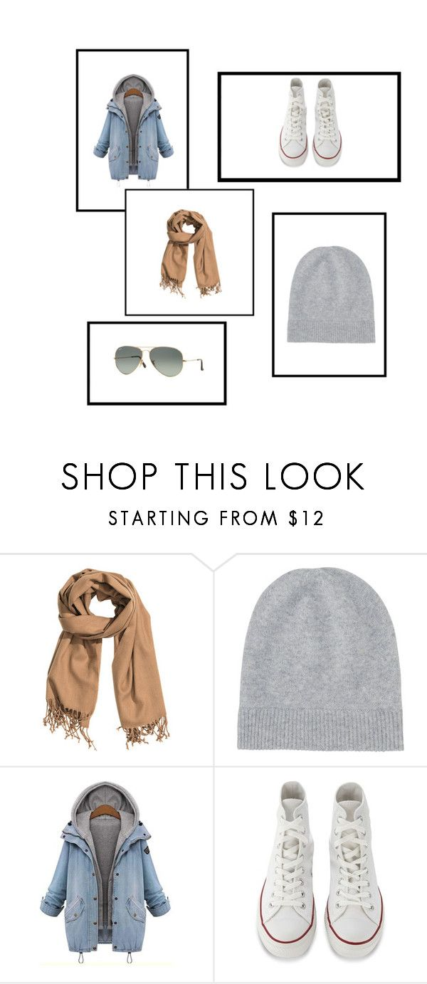 Jesień by magdalena-fajfer on Polyvore featuring moda, Amaya, Converse, Ray-Ban, Uniqlo and H&M