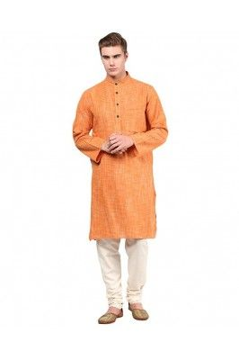 Look dashing and smart in this orange checkered cotton long kurta for men #cottonkurta #mensfashion #orangekurta #onlinekurta #menkurtaonline Shop now-  https://trendybharat.com/offer-zone/offer-alert/independence-day-sale/orange-checkered-cotton-long-kurta-for-men-mens-long-kurta-256