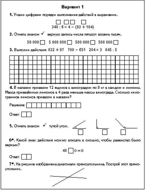 Конспект урока по информатике 4 класс горячев