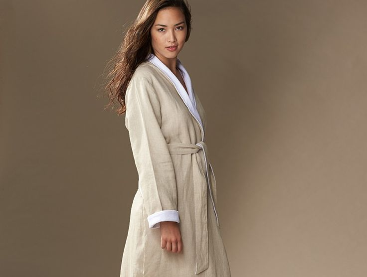 Women's+Linen+Terry+Robe