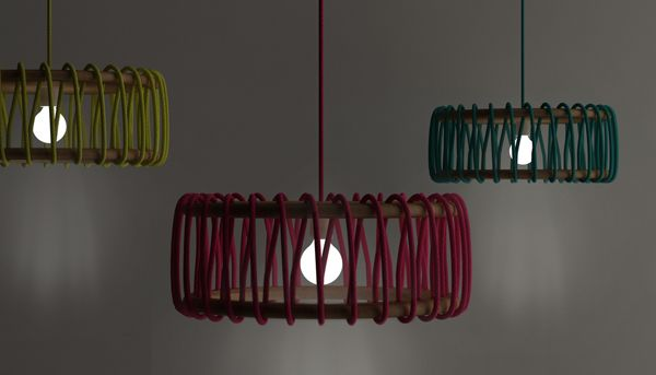 Simple and Colorful Macaron Lamps by Silvia Ceñal