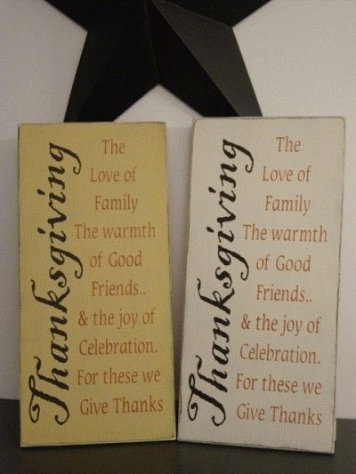 Thanksgiving Verse Primitive Handpainted Wood by thehomespunraven, $45.00