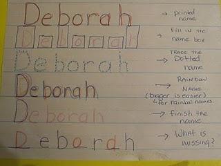 name writing practice ideas