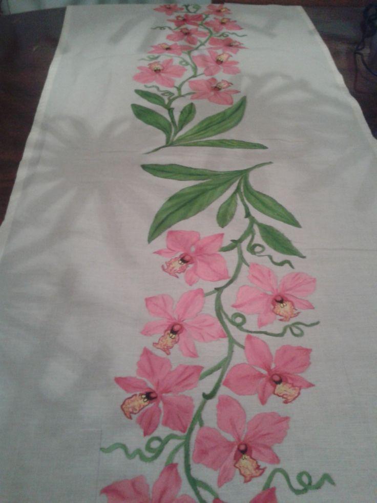 Corredor de mesa pintado à mão
