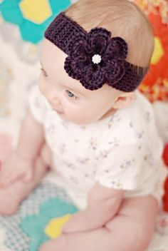 Crochet baby headband                                                                                                                                                                                 More