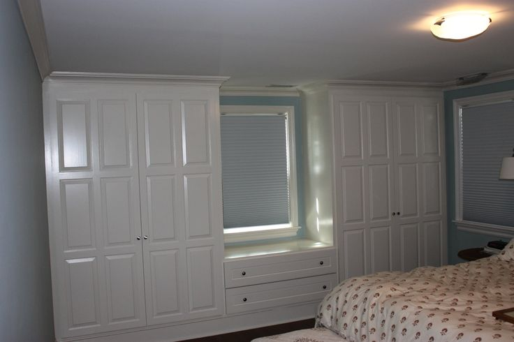 how to build closets around a window making a window seat - Google Search