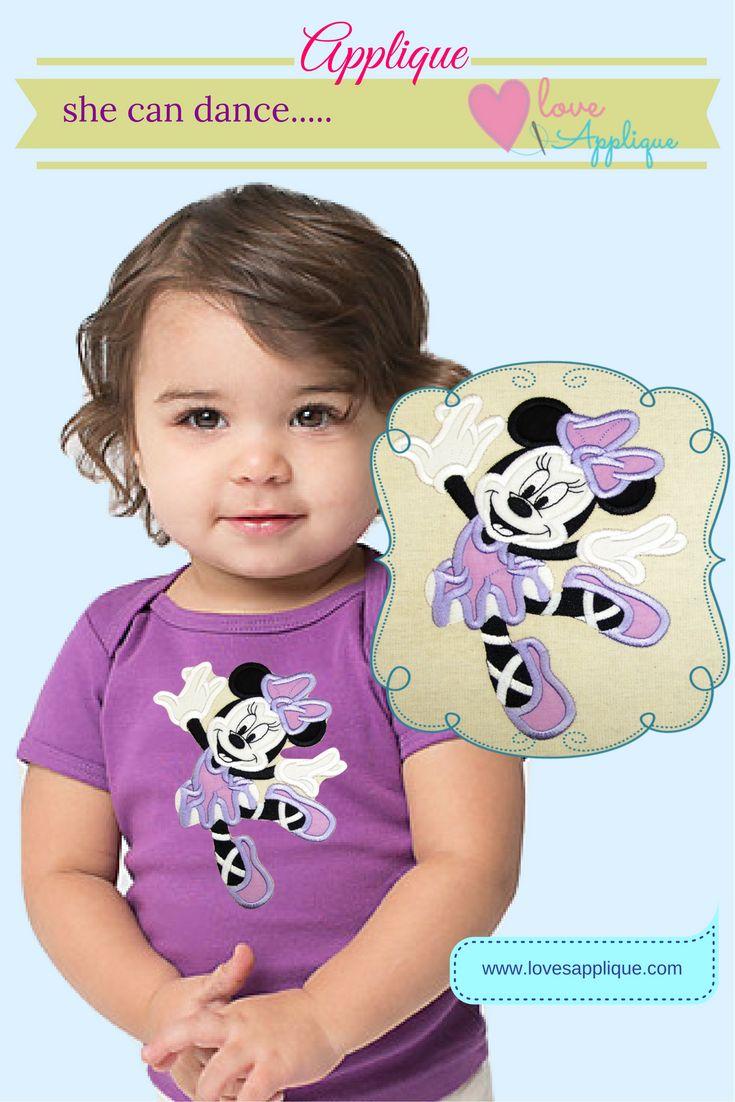 Minnie Mouse Ballerina. Minnie Mouse Designs. Minnie Mouse Applique. Minnie Mouse Embroidery. Minnie Mouse party Ideas. Minnie Mouse Outfits. Minnie mouse T shirt. www.lovesapplique.com