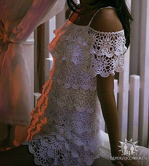 crochet- wow i want to learn how to crochet lace just so i can make this dress. how lovely.