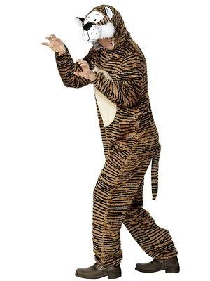Tiger Fancy Dress Costume Animal Outfit Onesie Jumpsuit Adult New (31679M)