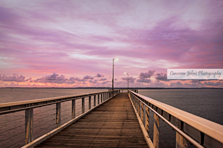 Pink Sunrise over Moreton bay, Queensland, Australia