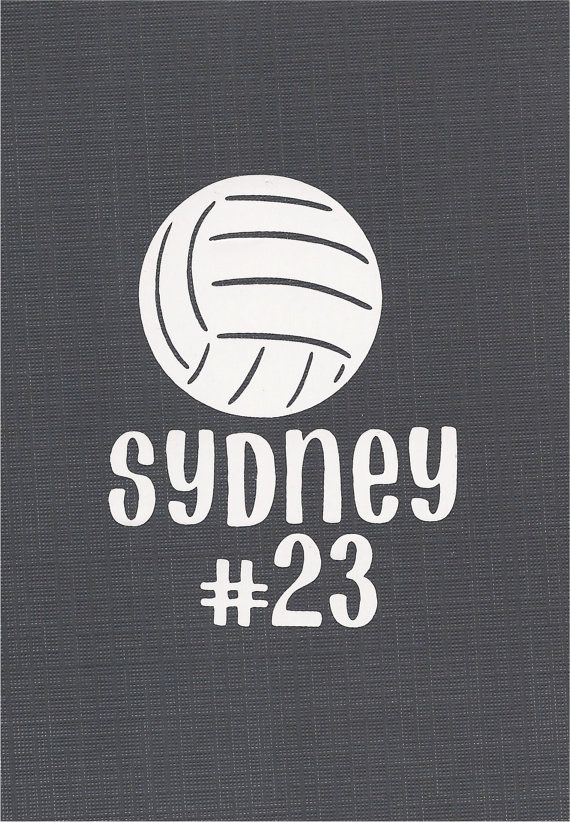 Personalized Volleyball Decal For Wall Decor By