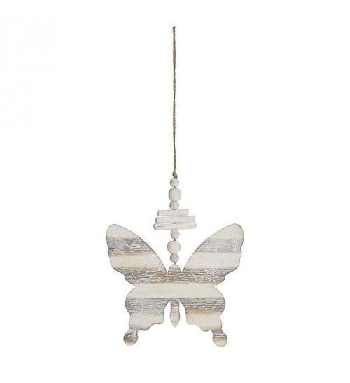 WOODEN HANGING BUTTERFLY IN WHITE_BEIGE COLOR 13X15X0_5_34