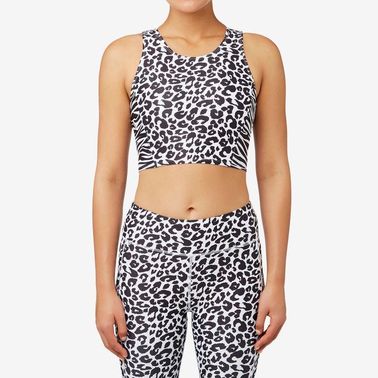 Shop now: Splice Zebra Crop. #seedheritage #seedsport #sport #woman