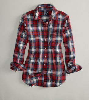 really want a red plaid button-up to wear with skinnies and riding boots this fall. maybe even one of the fleece-lined kinds for days spent outdoors.