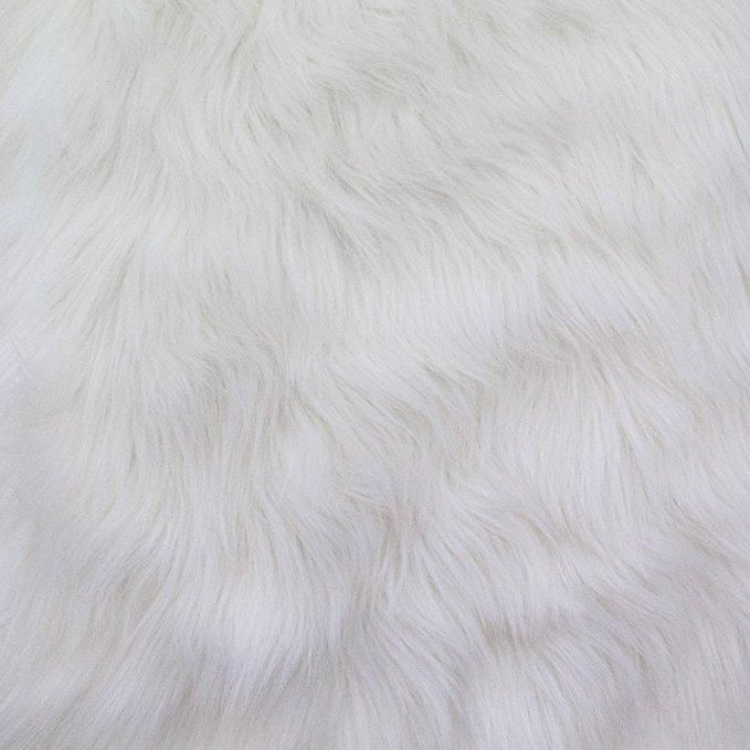 White Faux Fake Fur Solid Shaggy Long Pile Fabric Faux Fur Fabric White Faux Fur Craft Fur