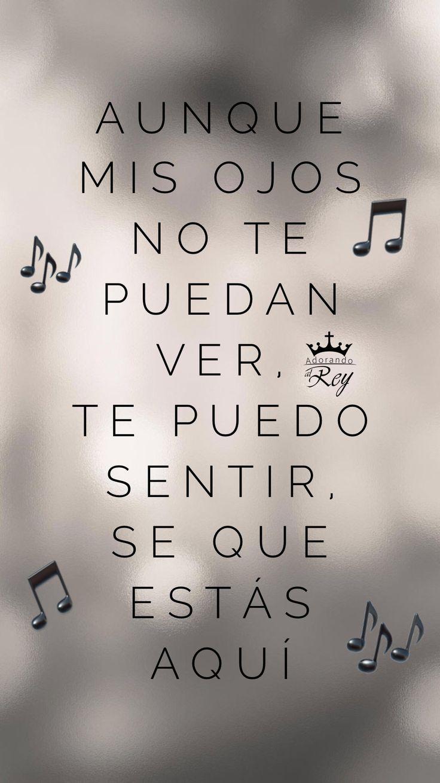 Aunque mis ojos no te puedan ver te puedo sentir, se que estás aquí #AdorandoalRey #MusicaCristiana