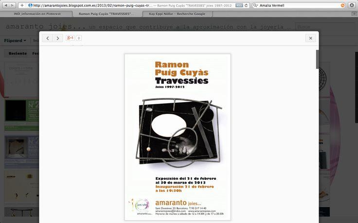 Cartel exposición Ramon Puig Cuyàs