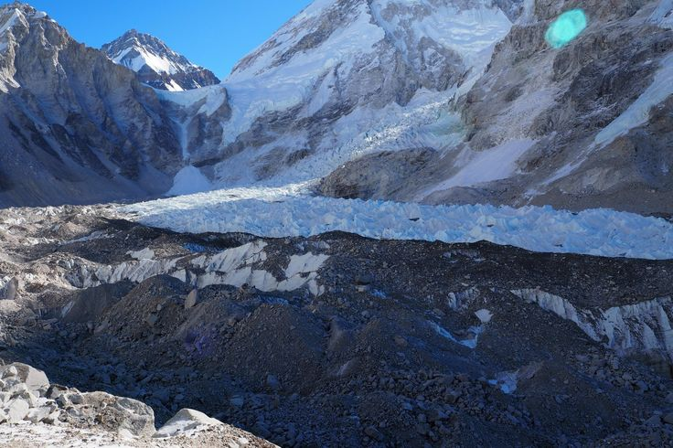Everest Base Camp, Nepal. #travelforayear #justgottaride #travelplanner #travel #worldtrip #travelbudget #ebc #basecamp #everest