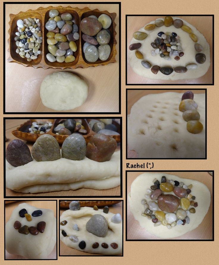 """Simple dough with stones from Rachel ("""",)"""
