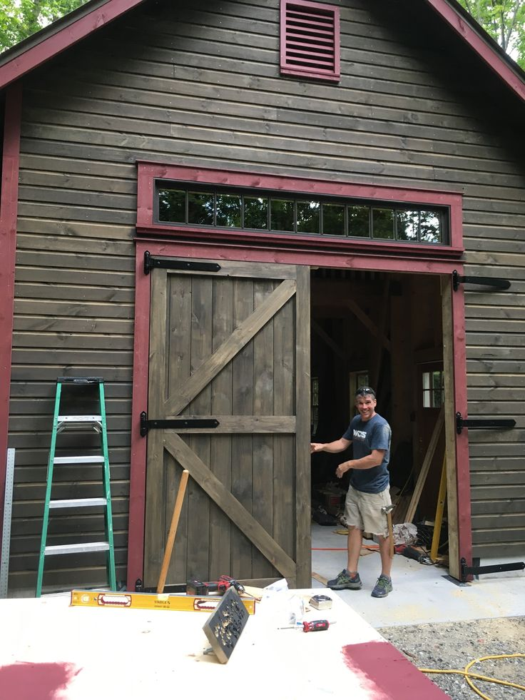 Garage swing doors install easily with heavy duty hinges