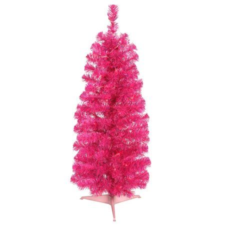 Vickerman 3' Pink Pencil Artificial Christmas Tree with 50 Pink LED Lights