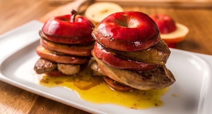 Libamáj almával recept főfotó