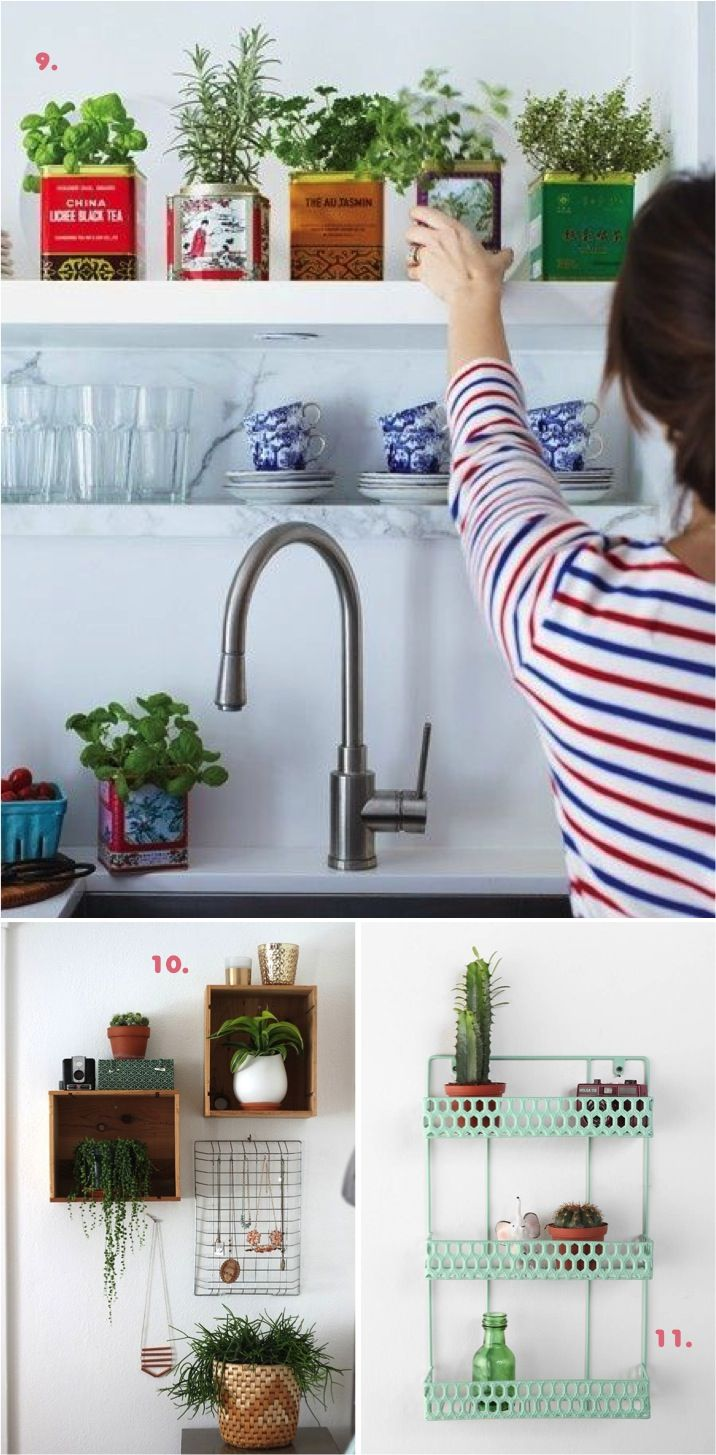 10 tips for adding green to your home: Add Green, Herbs Planters, Ads Green, Blog Tips, Cute Ideas, Apartment Gardens, Ideas Para, Excel Ideas, Kitchens Herbs