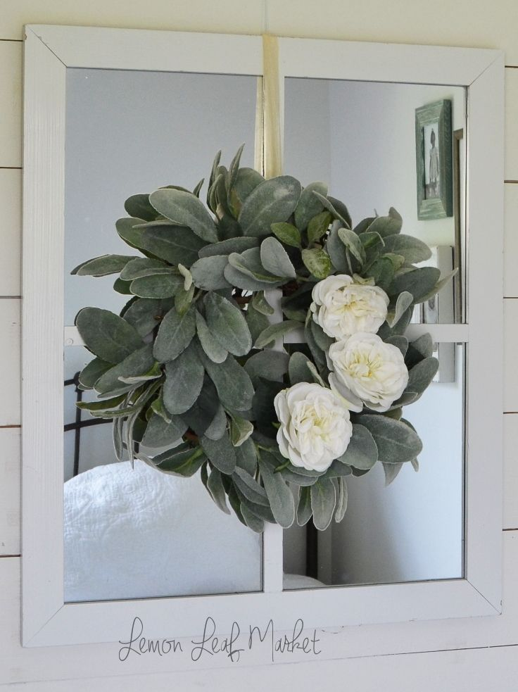 17 Best Ideas About Wreath Over Mirror On Pinterest Over