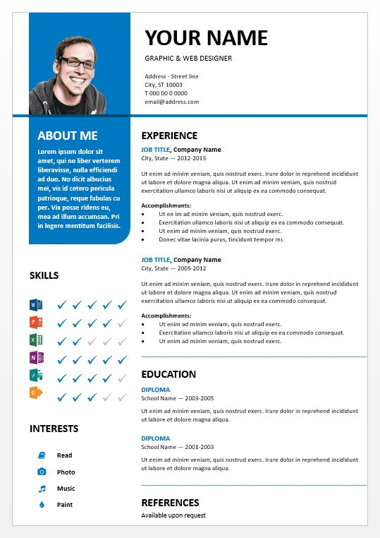 Free Resume Templates Download Microsoft Word Resumes Best 25 Model Curriculum Vitae Ideas Only On Pinterest