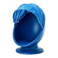 Вращающееся кресло, синий, голубой, ИКЕА ПС ЛЁМСК (арт. 30264216)