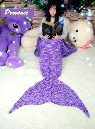 FADFAY Mermaid Blanket Knitting Pattern Blanket Mermaid Tail Blanket Kids And Adults Style: Amazon.co.uk: Kitchen & Home