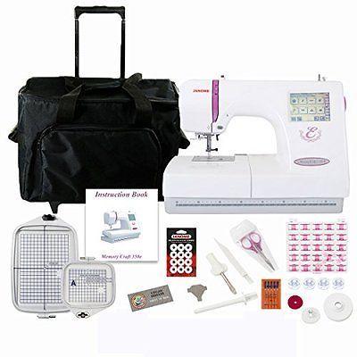 Рriсе - $1,605.79. Sewing Machines Janome 350E Memory Craft Embroidery Machine Bundle ( Brand - Janome, Model Number - SVDMC350EBONUSBUNDLE, MPN - not, UPC - 708038732015, Category - Sewing Machines, EAN - 0708038732015    )