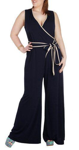 Dress Your Curves: Plus Size Jumpsuits.  JILRO    JilRo Jumpsuit Yourself Romper / Buy it here