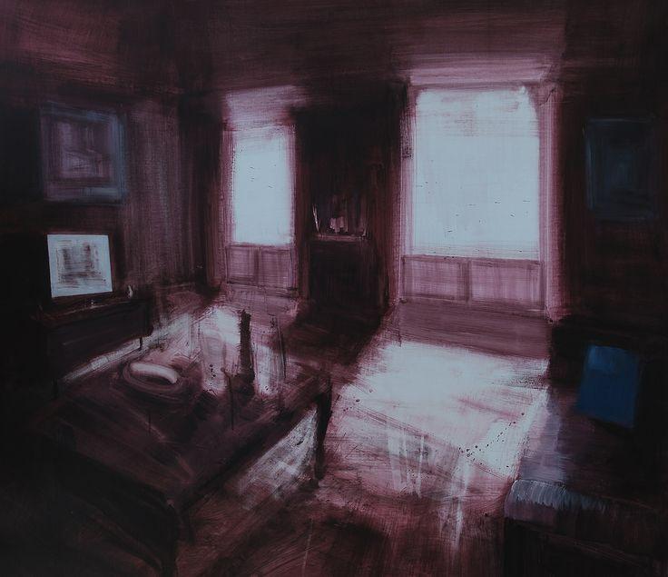 'Televisore', acrilico su tela, 100x100, 2014.