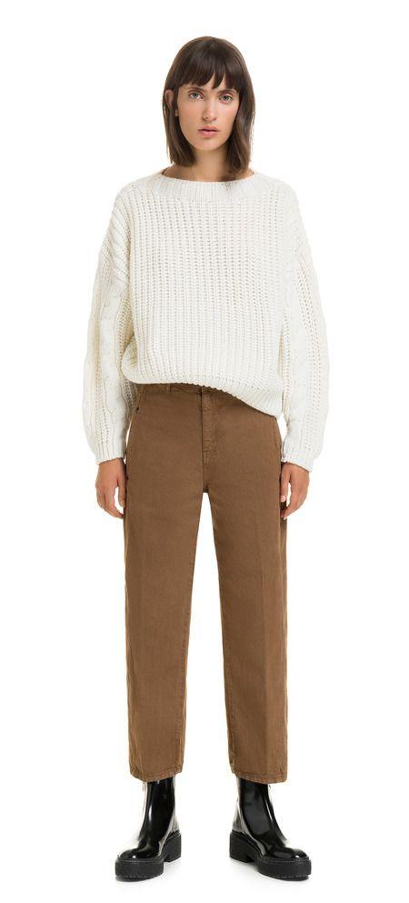 71140ac4cf Pantalón ancho marrón