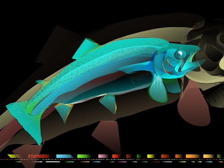 FISH - Made on iPad. App: Paintbook. © Brian Jensen Felde