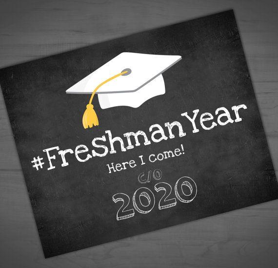 High School Printable Chalkboard Back To School Sign - #FreshmanYear - Welcome Freshmen - Freshman Orientation - Hashtag - 8x10 - 16x20