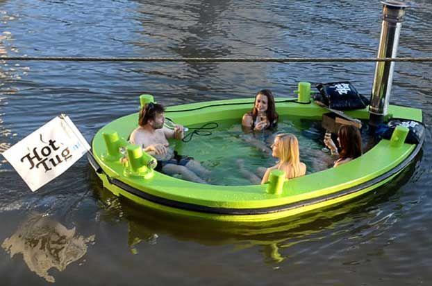 Vasca idromassaggio HotTug da esterno per momenti di relax unici