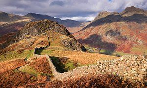 20 Great UK walks - Including Drystone wall on Lingmoor Fell, Cumbria