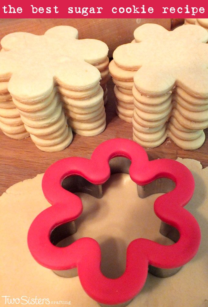 The Best Sugar Cookie Recipe - easy to make, soft, delicious and keeps the shape of the cookie cutter.