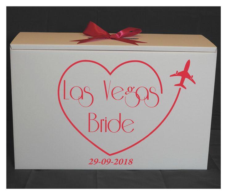 Las Vegas Wedding Dress Travel box with date.