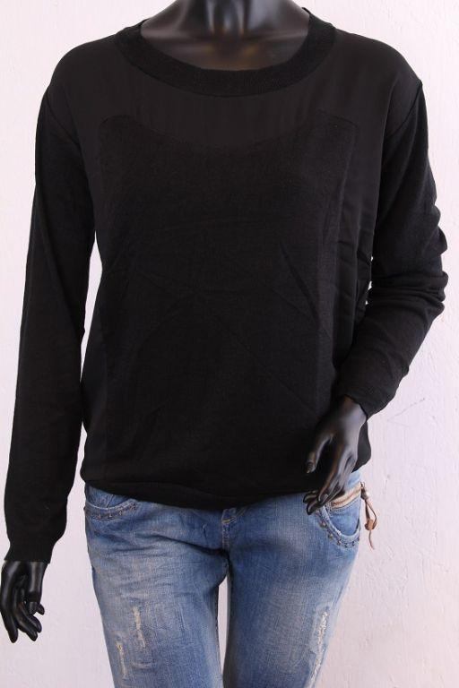 Karen By Simonsen Saina Knit Pullover black 44127 - Bluser/Strik - MaMilla