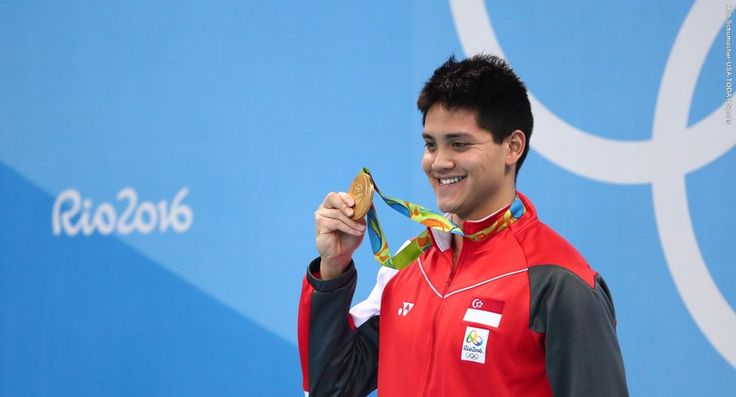 08.12.2016  Joseph Schooling wins Olympic gold in 100m butterfly at Olympic…