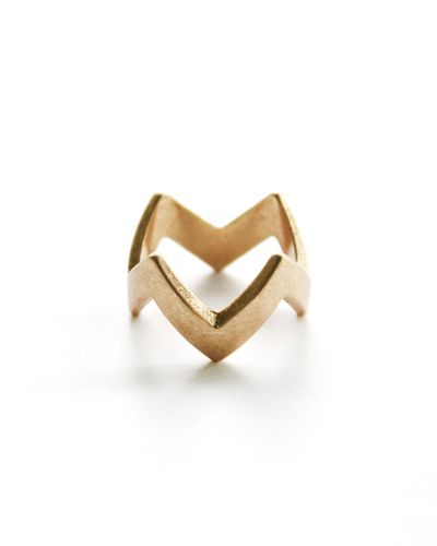 Gold ZigZag Stacking Ring