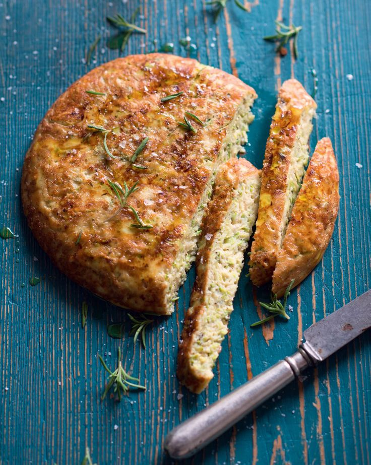 White zucchini omelette with mint & melting Gouda recipe from New Feast by Greg Malouf | Cooked