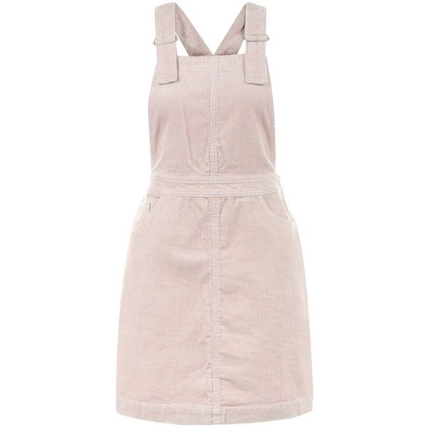 New Look Mid Pink Cord Dungaree Pinafore Dress ($29) ❤ liked on Polyvore featuring dresses, mid pink, pinny dress, pink day dress, dungaree dress, new look dresses and pink dress